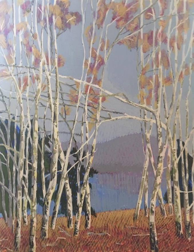 Birches 3 by Jane Carr