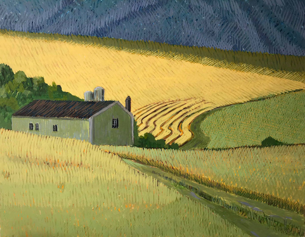 Green Barn by Jane Carr